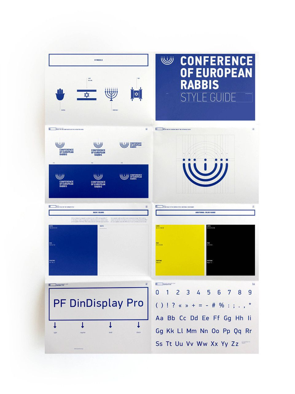 Conference Of European Rabbis Brand Guidelines Graphic Design