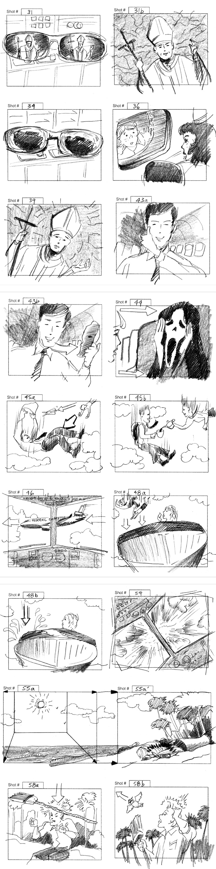 Miss Cast Away Storyboards By Storyboard Artist Cuong Huynh Got A