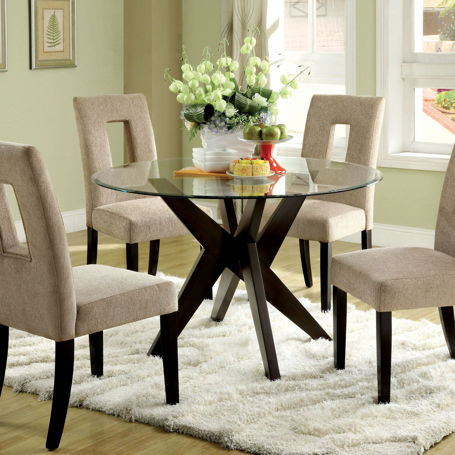 All Hokku Designs   Glass dining room table, Glass round dining ...