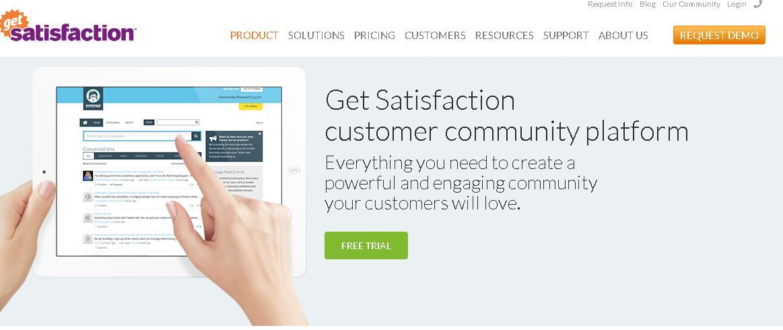 Get Satisfaction Customer Support Tool