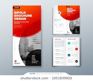 bi fold brochure design red business template for bi fold flyer