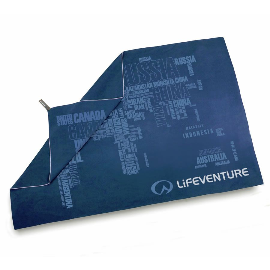 Lifeventure Giant World Map Travel Towel