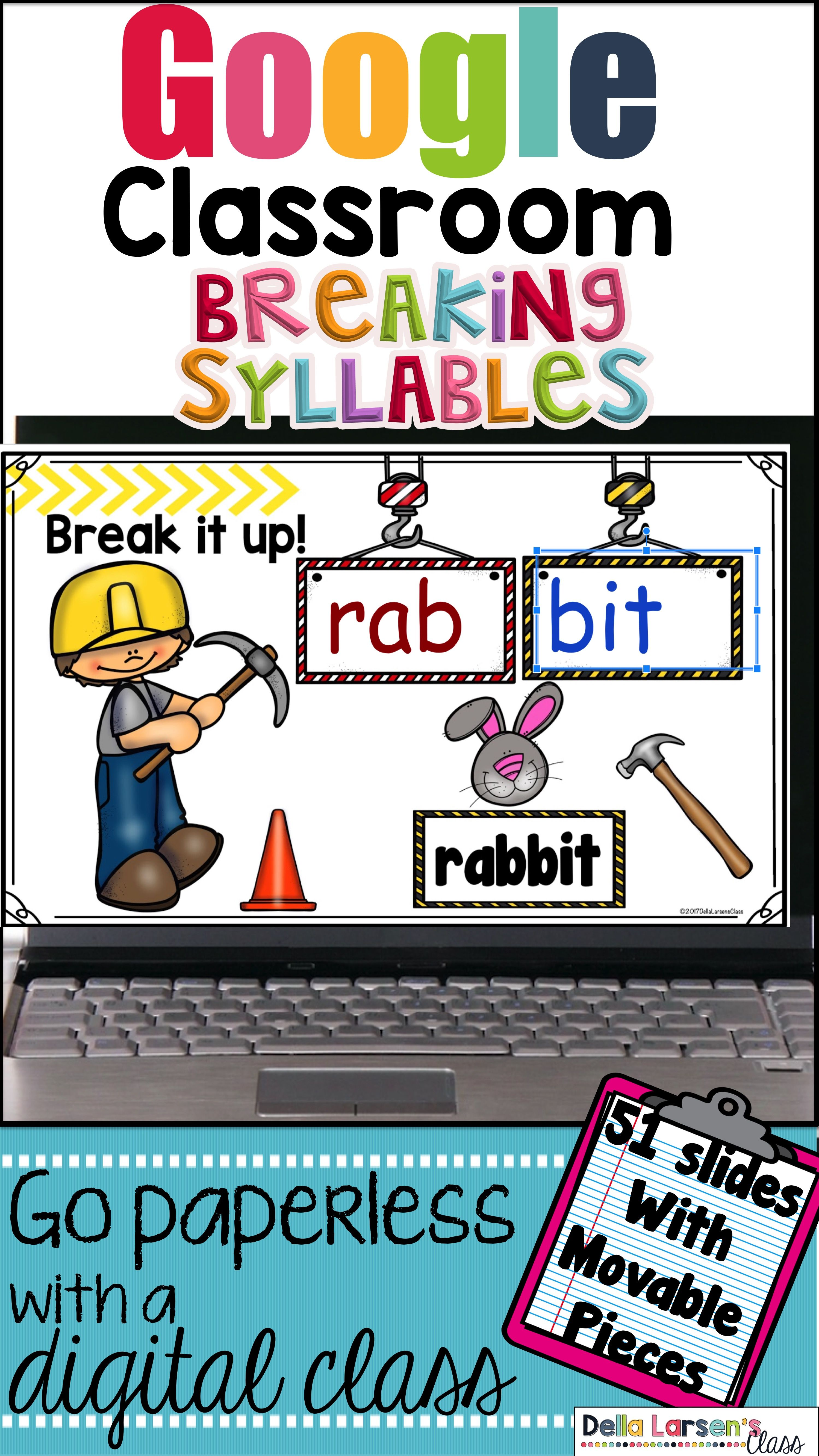 Classroom First Grade Syllables Distance Learning