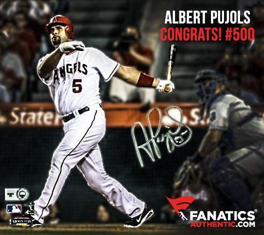 Congrats Albert Pujols on 500 career home runs!
