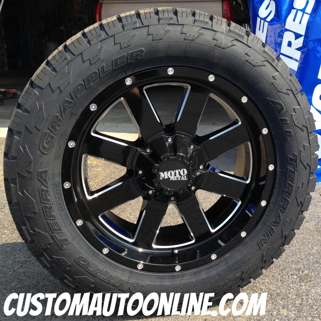 Cheap Mud Tires For Trucks >> Custom Automotive :: Packages :: Off-Road Packages :: 20x9 Moto Metal 962 Black - LT285/55r20 ...