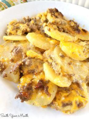 Hamburger Potato Casserole #hamburgercassarole