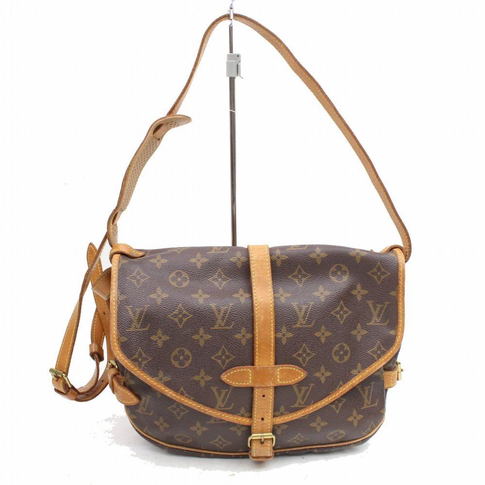 10a1f730cb08 Authentic Louis Vuitton Shoulder Bag Saumur 30 M42256 Browns Monogram  325606  fashion  clothing