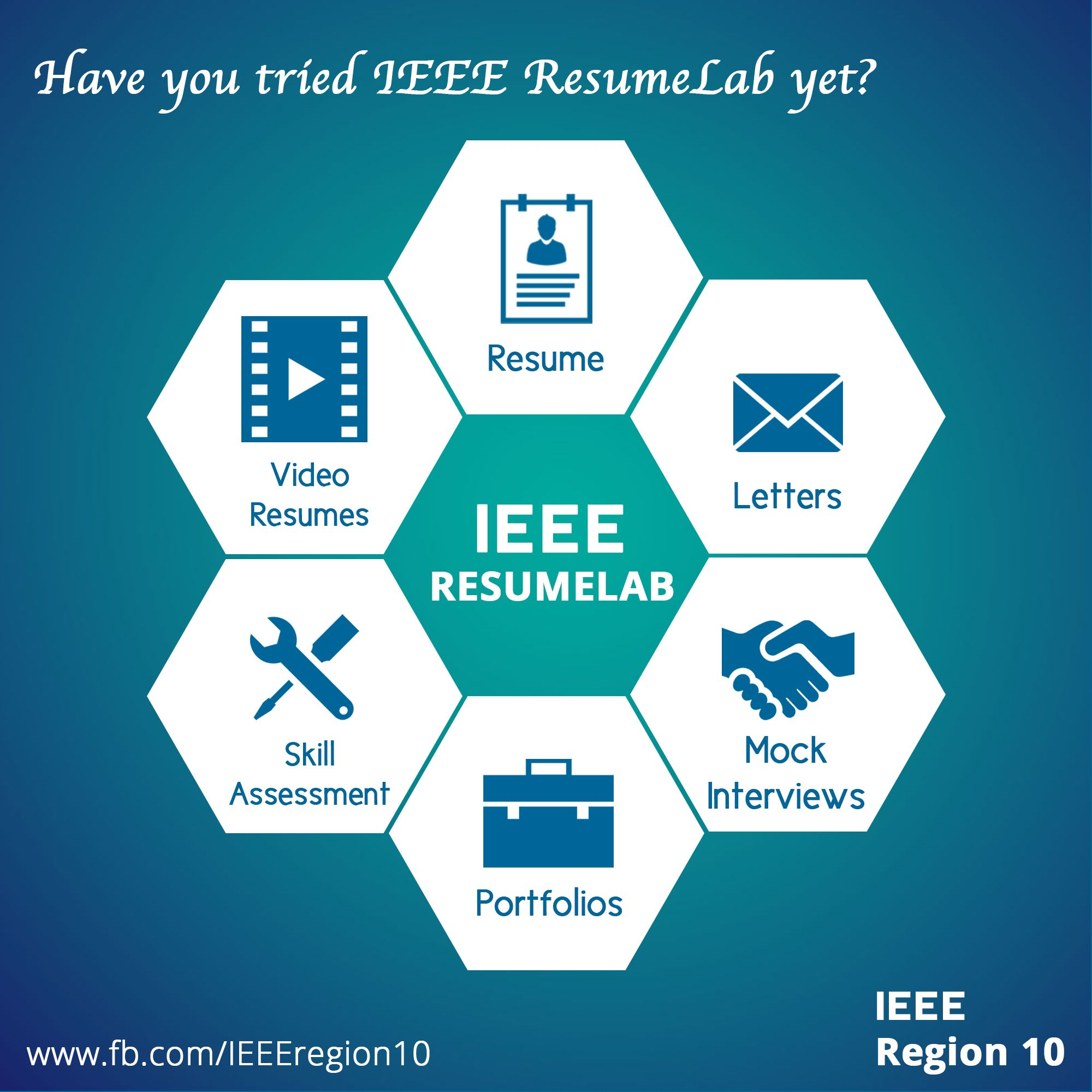 IEEE ResumeLab tool is a good benefit for IEEE members. This poster ...