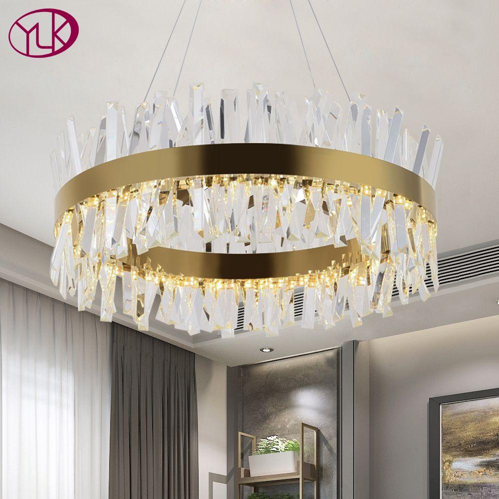 Youlaike Modern Led Chandelier For Living Room Luxury Crystal Chandeliers Lighting Gol Crystal Chandelier Lighting Chandelier In Living Room Crystal Chandelier