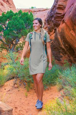 Intrepid Hoody Dress - An adept world traveler, it manages both backpack and clothes washer situations with aplomb. Made of a fast-drying performance blend with a plush, brushed interior.