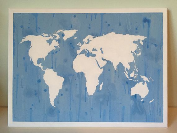 Water color world map canvas 12x16 in wall by ohmyposhcanvases water color world map canvas 12x16 in wall by ohmyposhcanvases gumiabroncs Choice Image