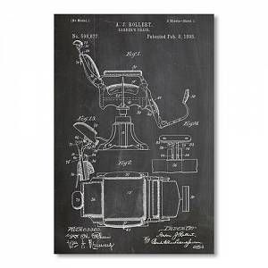 'Barbers Chair' Graphic Art on Wrapped Canvas Americanflat  - Size: Medium