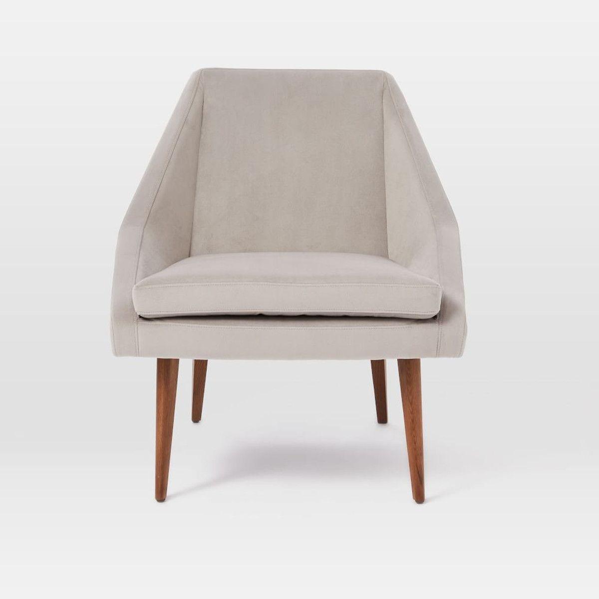 Ordinaire Parker Slipper Chair   Dove Grey | West Elm UK