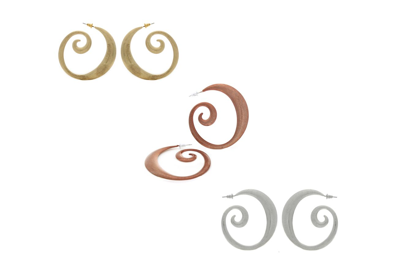 Abstract Swirling Hoop Earrings neutrajewelry.com