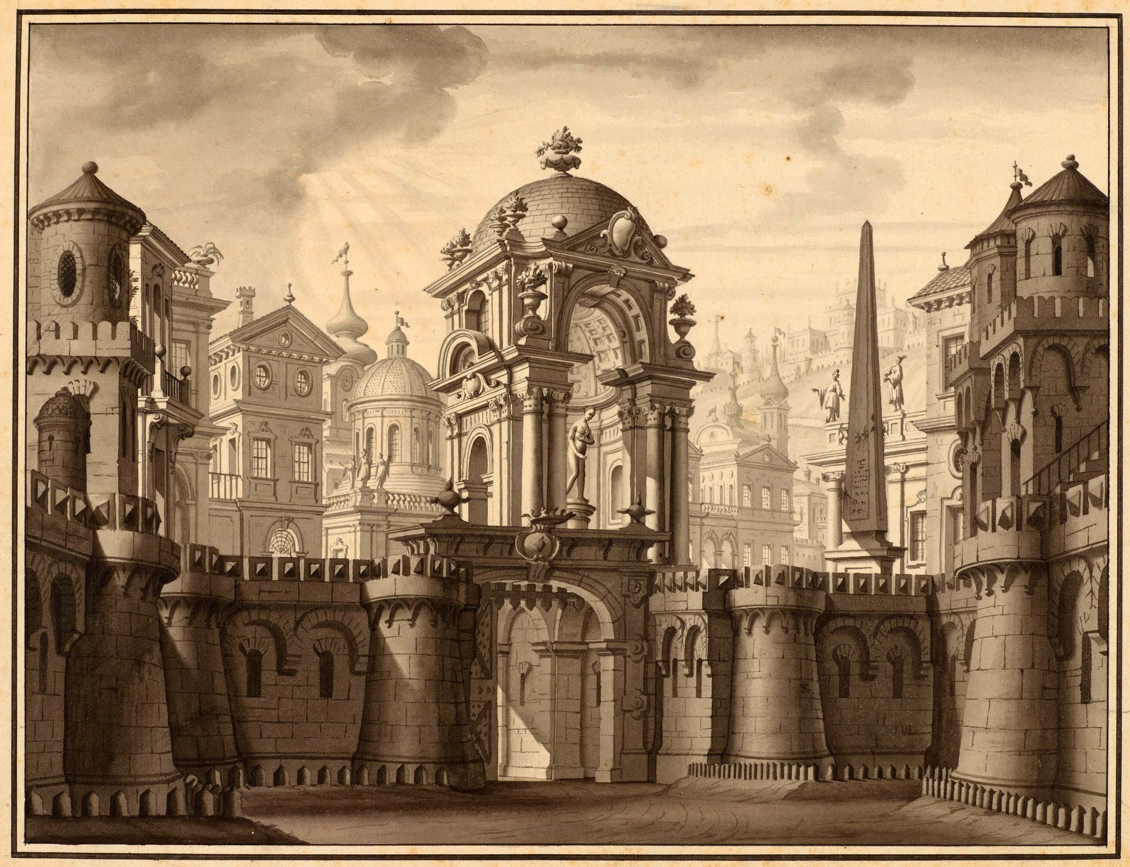 German School   18th century   The Entrance to a Baroque City   The Morgan Library & Museum