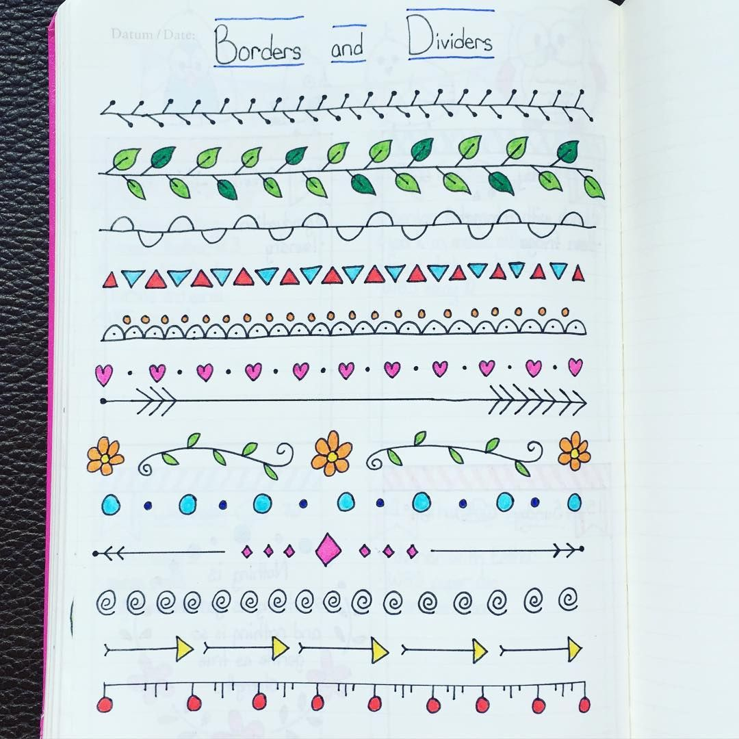 My first page of border and divider ideas inspired by pinterest