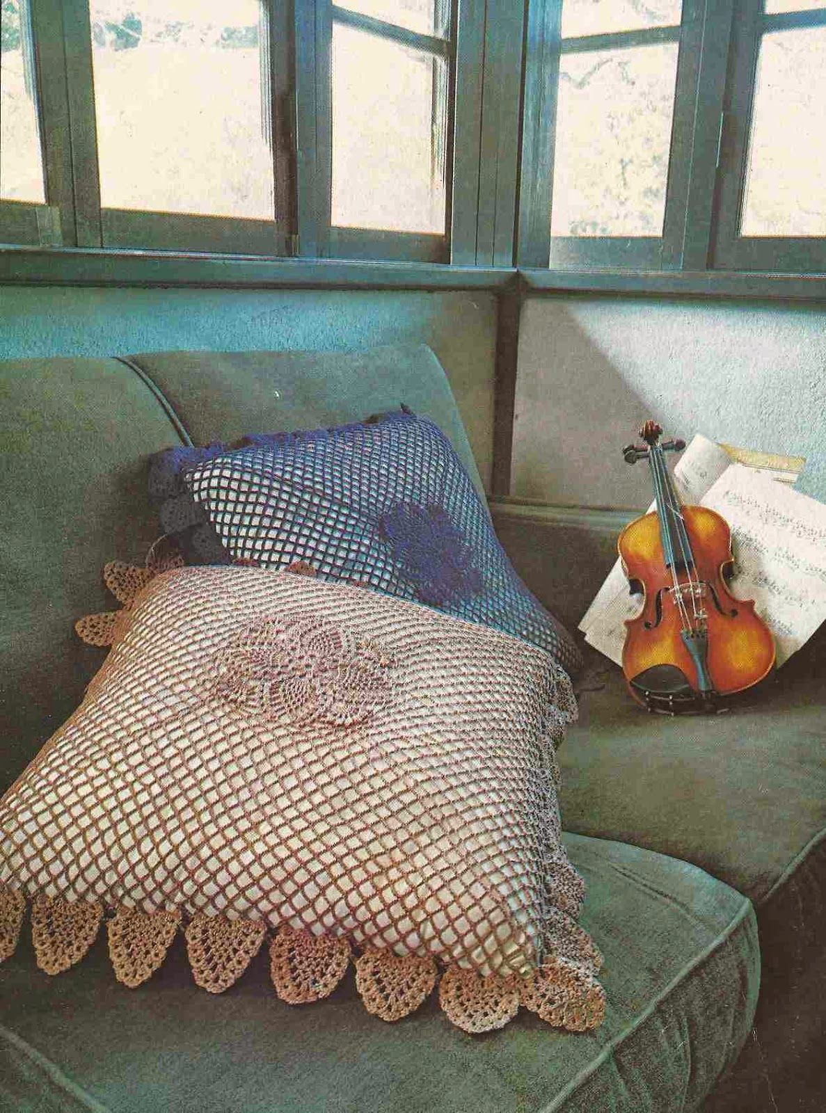 Cojines a Crochet | almohadones | Pinterest | Volantes, Patrones y ...