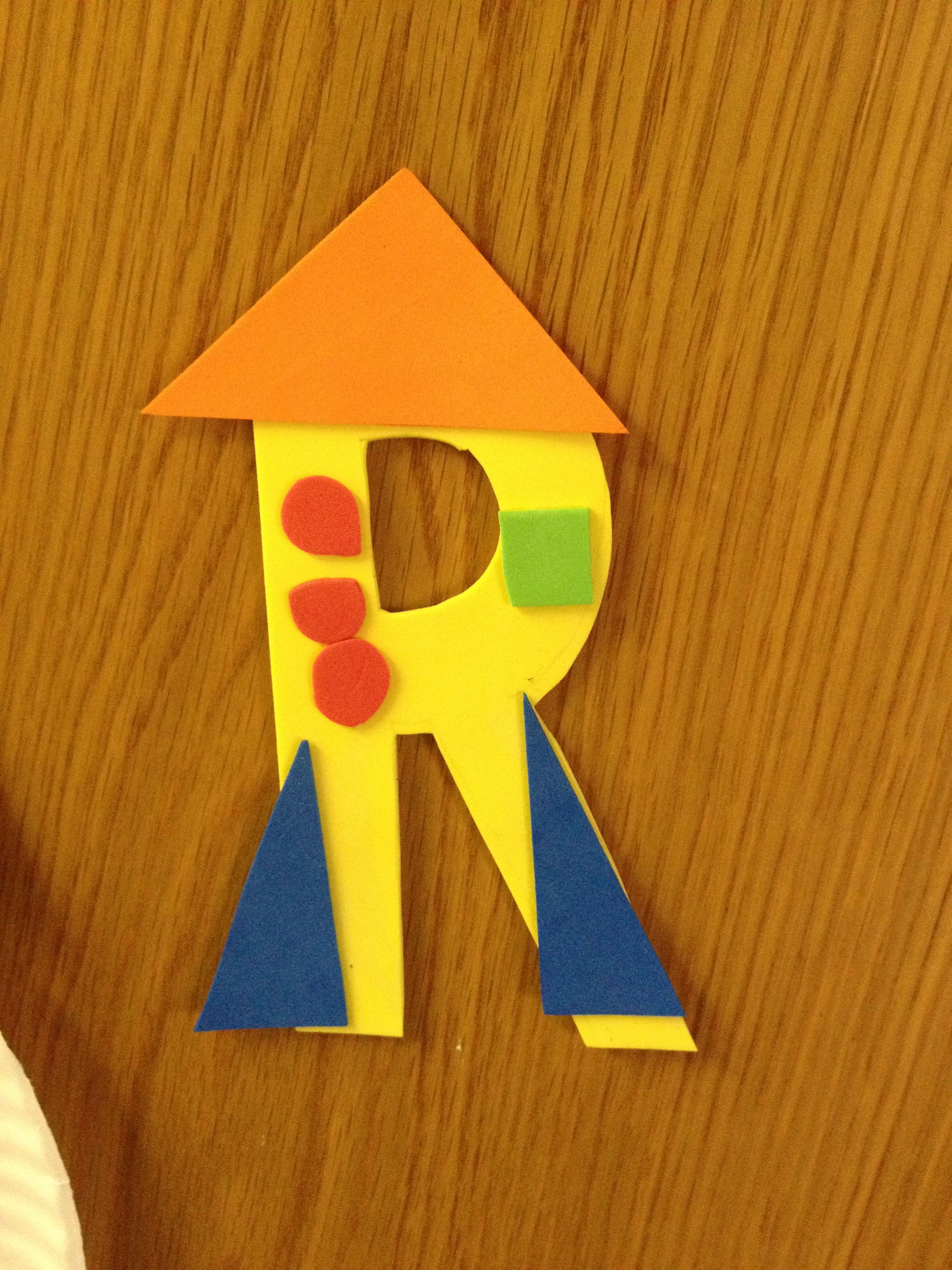 Letter R For Rocket Craft Letter A Crafts Letter R Crafts
