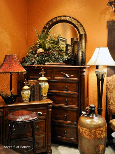 Accents of salado bedroom furniture at accents of salado decorating with barbara pinterest Tuscan style bedroom furniture