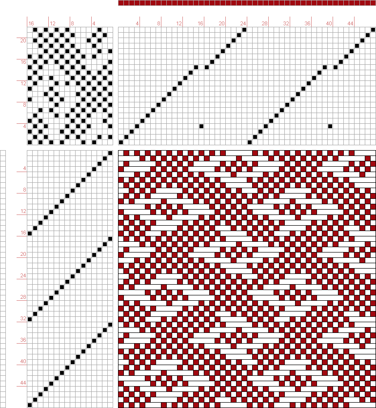 draft image: 24326, 2500 Armature - Intreccio Per Tessuti Di Lana, Cotone, Rayon, Seta - Eugenio Poma, 22S, 16T