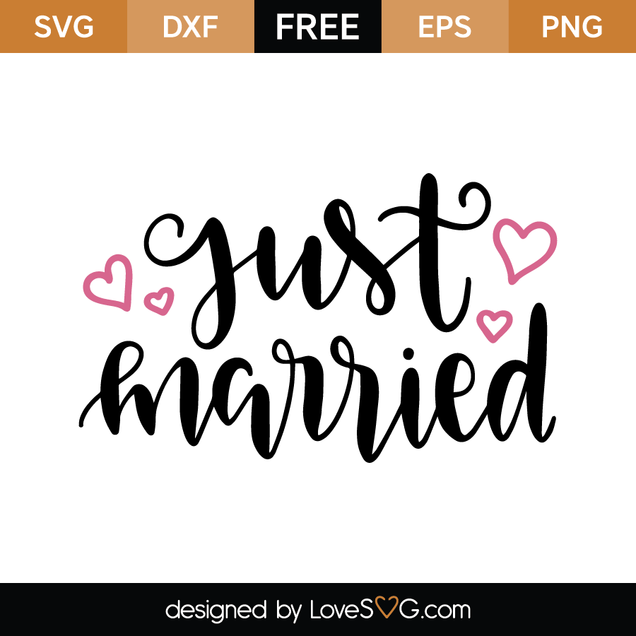 Just Married Quotes Download Your Free Svg Cut File And Create Your Personal Diy