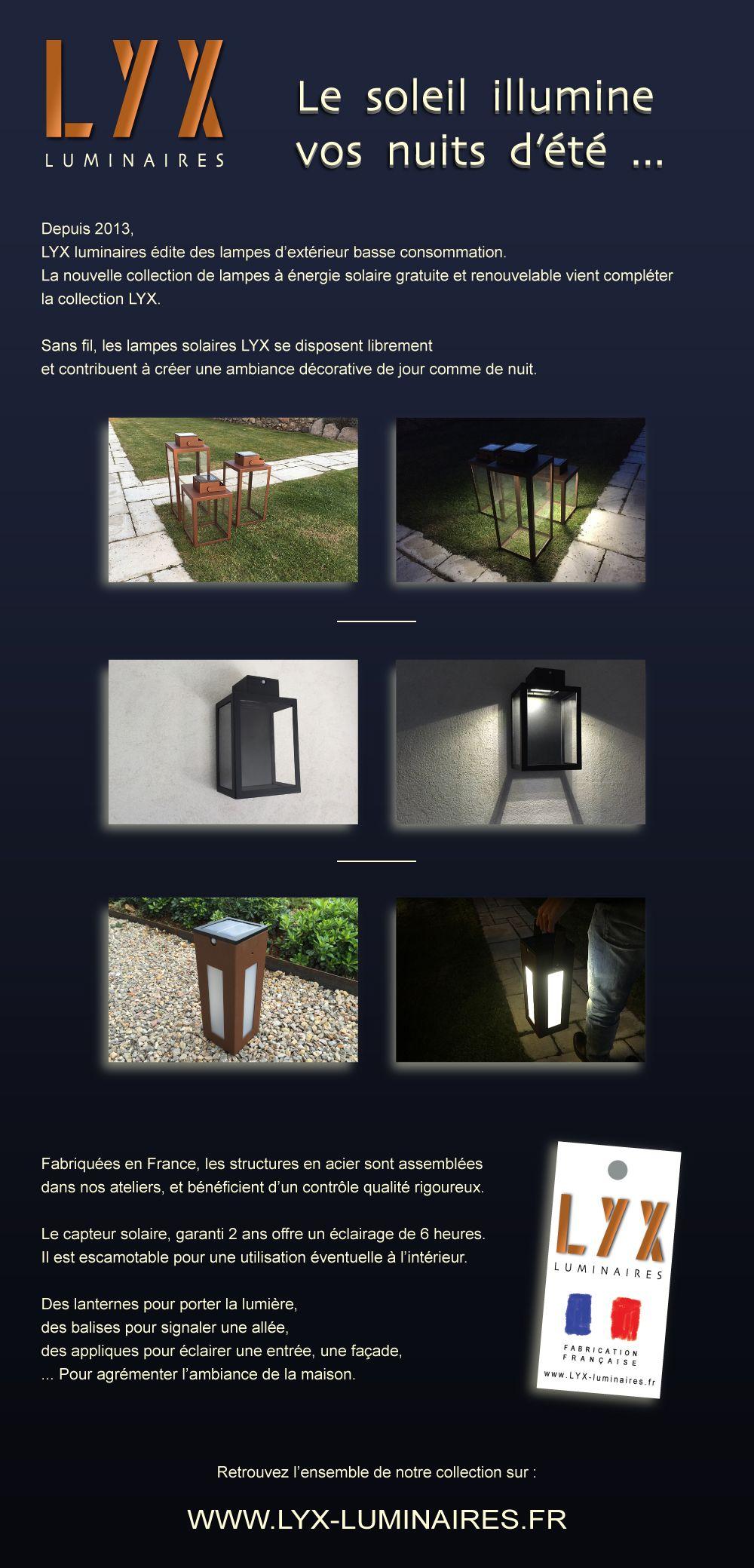 Lampe Energie Solaire Interieur retrouvez l'ensemble de la collection solaire sur : www.lyx
