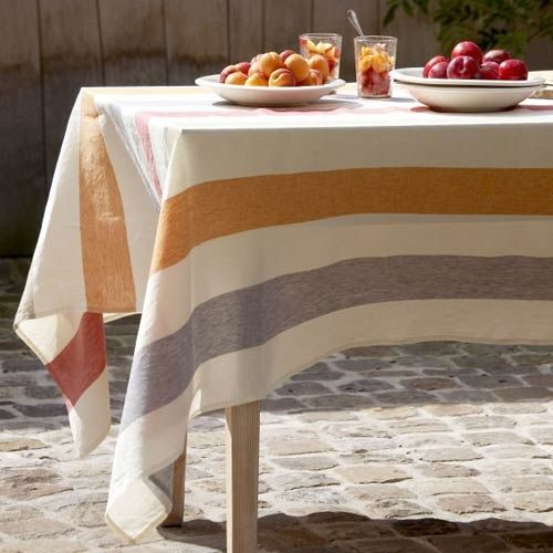 Fabrics Linen Libeco Pianosa Table Linens Remodelista Table Cloth Table Linens Linen Tablecloth