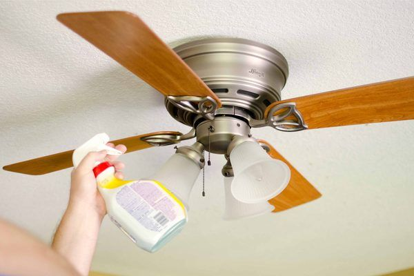 How To Keep Your Ceiling Fans Dust Free Hunker Cleaning Ceilings Ceiling Fan House Cleaning Tips