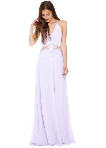 Jarlo Siobhan Cami Strap Lilac Maxi Dress With Lace Insert | Jarlo ...