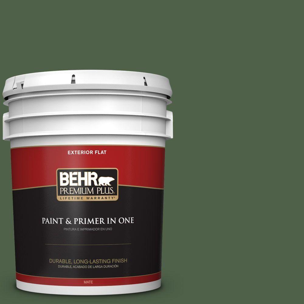 BEHR Premium Plus 5-gal. #ppf-44 Nature Surrounds Flat Exterior Paint