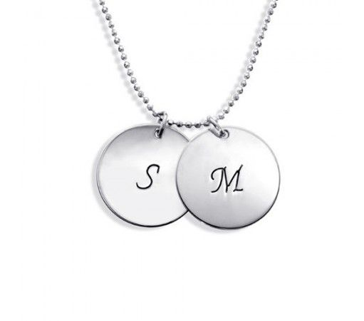 Personalized sterling silver disc pendant engraved name necklace personalized sterling silver disc pendant engraved name necklace mozeypictures Images