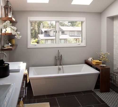 Bathroom, Stand Alone Bathtub With Single Hole Tub Faucet For Small Space Standalone  Bathtub In