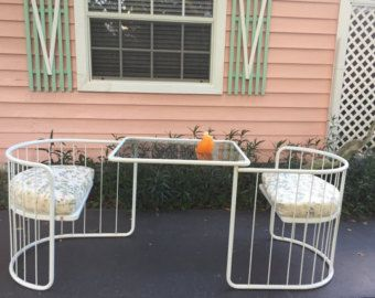 c154db43c1e Vintage EMU PATIO SET, Made in Italy, Table & Chairs 1 Piece Patio Set,  Tiny House, Mid Century, Minimalist, Photo Prop at Modern Logic