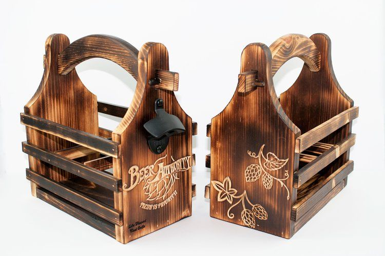 Wooden Six Pack Carrier Wood Crafts Wood Carriers