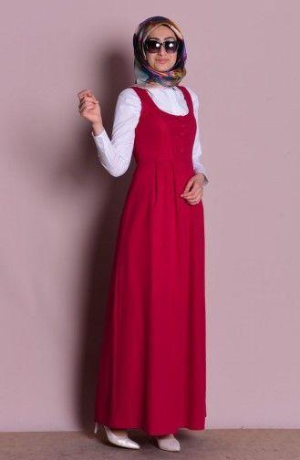 2ccdf1a1f995a Jile Elbise 2115-01 Vişne | Liking | Elbiseler, Elbise modelleri, Giyim