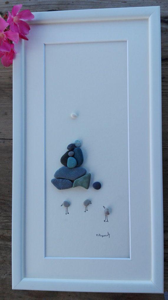 pebble art Family 3 Family 3 gift new home decor home