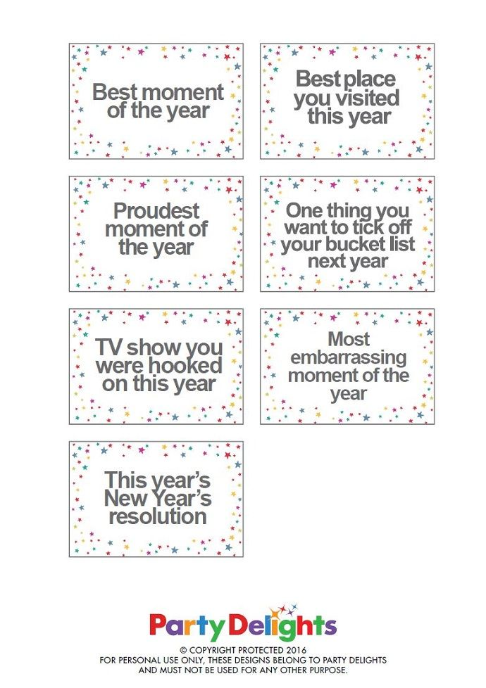 Free Printable New Year S Eve Party Game Kids New Years Eve New