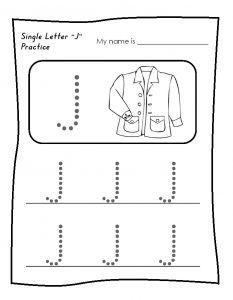 Letter J Worksheet for Kindergarten Preschool and 1\'st Grade ...