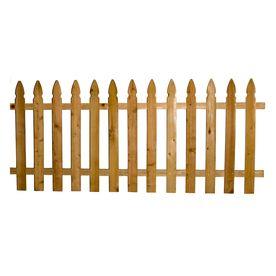 4 Ft X 8 Ft Cedar Gothic Wood Fence Panel 19 97 Cedar Wood Fence Wood Fence Fence Panels