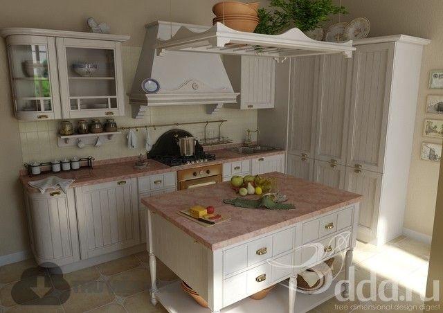 3d kitchen model 25 free download  kitchen models