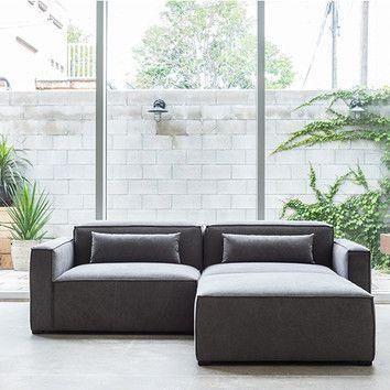 Gus Modern Mix Modular Sectional Reviews Wayfair Modular Sectional Sectional Sofa Modern Sectional