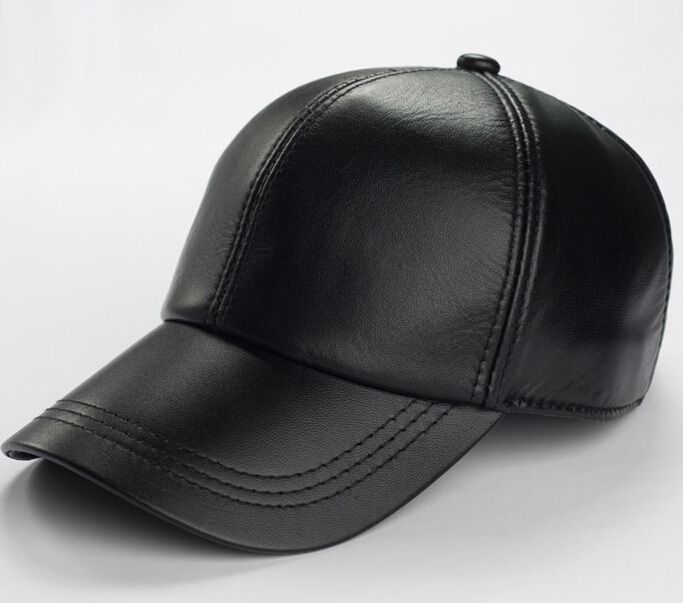 bdc2d1cd0bb Hot selling gorras hombre snapback 2017 new winter Sheepskin hat genuine  leather warm adjustable baseball cap for man caps