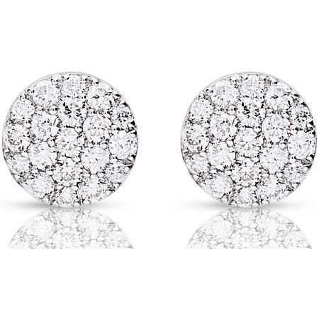Boucles d'oreilles Or Blanc 0750 / Diamants ...