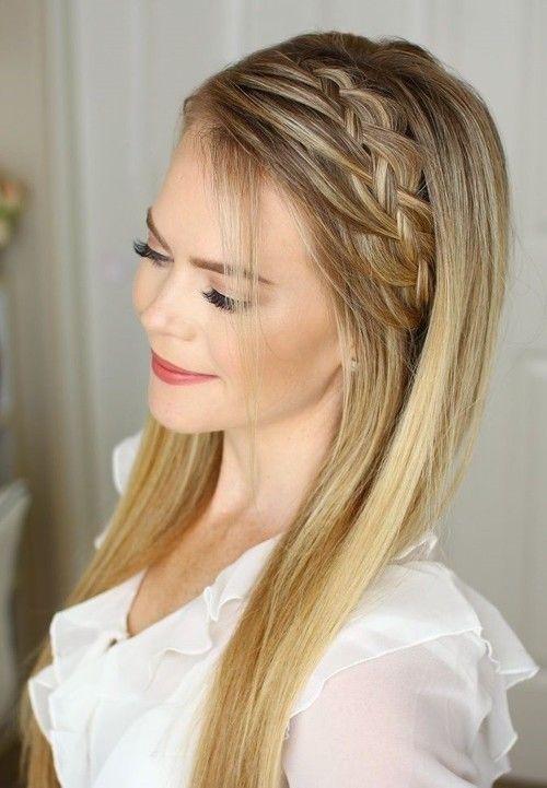 Peinados Para Fiesta Pelo Suelto En 2020 Peinados Pelo Liso Peinados Con Trenzas Peinados Trenza Suelto