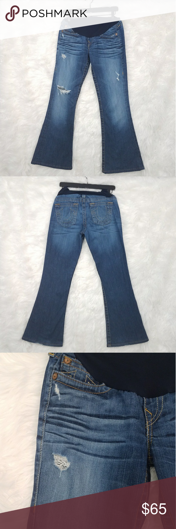 ff231debe0c07 True Religion Maternity Jeans Size 29 Great Condition! A Pea in the Pod  Collection True