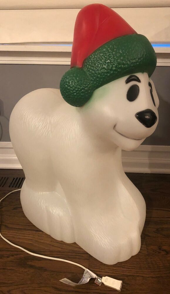 Vintage General Foam Lighted Christmas Polar Bear Blow ...