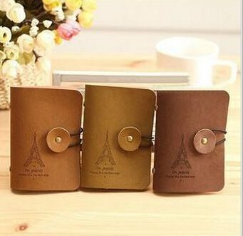 $2.18 (Buy here: http://appdeal.ru/9xam ) Fashion Women Men Eiffel Tower 24 Slots ID Credit Cards Holders Organizer Case Pocket Brown Business Card Holder Free Shipping for just $2.18