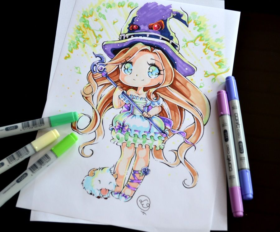 Magical girl by on deviantart art chibi anime art et manga drawing - Comment dessiner peach ...