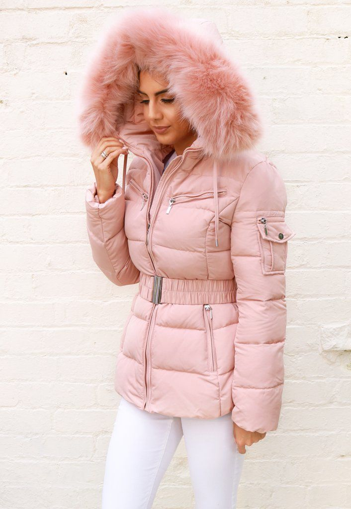 ef906317091 Harper Quilted Longline Hooded Puffer Coat with Faux Fur Trim | 1234 ...