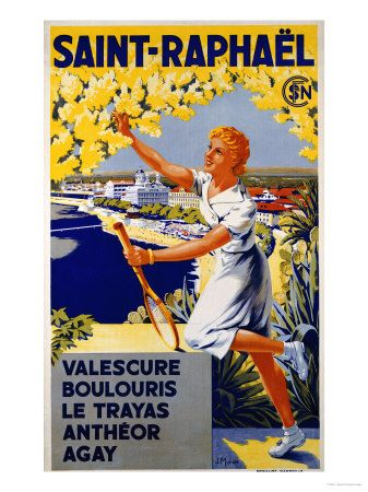 Raphael  Riviera Vintage Poster Repro FREE S//H France Cote D/'Azur Valescure St